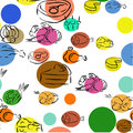 Seamless food pattern with doodles Royalty Free Stock Photo