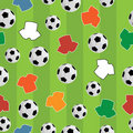Seamless football pattern Royalty Free Stock Photography