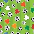 Seamless football pattern Royalty Free Stock Photo
