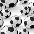Seamless Football Pattern Stock Photo