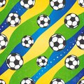 Seamless football pattern, vector background. Royalty Free Stock Photo