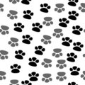 Seamless footprint pattern Royalty Free Stock Photography