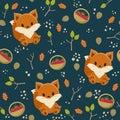 Seamless Fox Wallpaper.