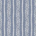 Seamless french farmhouse woven linen stripe texture. Ecru flax blue hemp fiber. Natural pattern background. Organic Royalty Free Stock Photo
