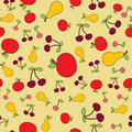 Seamless fruit background Stock Photo