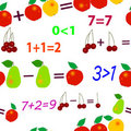 Seamless fruit mathematics Stock Image