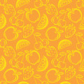 Seamless Fruit Pattern Royalty Free Stock Photo