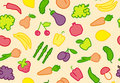 Seamless fruit-vegetable background Stock Photo