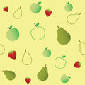 Seamless Fruits Pattern Stock Photography