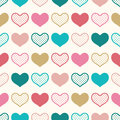 Seamless fun heart wallpaper background Royalty Free Stock Photo