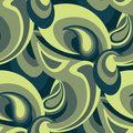 Seamless Funky 70s Pattern Royalty Free Stock Photography
