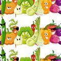 Seamless funny vegetable background white Royalty Free Stock Image