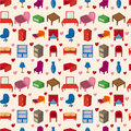 Seamless Furniture pattern Stock Photos