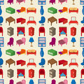 Seamless Furniture pattern Royalty Free Stock Photos