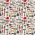 Seamless garden tool pattern Stock Photography