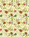 Seamless gardening pattern