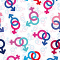 Seamless gender background Stock Image