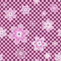 Seamless gentle floral pattern Stock Photos