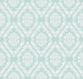 Seamless gently-blue retro damask Wallpaper for design. Royalty Free Stock Photo