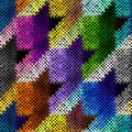 Seamless Hounds-tooth pattern Royalty Free Stock Photo