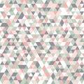 Geometric mosaic pattern pastel colors pink grey white green triangle
