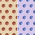 Seamless geometric abstract pattern from colorful hexagons.