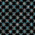 Seamless geometric black background with colorful decorative