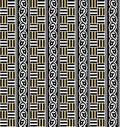 Seamless Geometric black and gold pattern