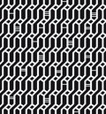 Seamless geometric black and white pattern network background wickerwork decorative endless texture for design textile wrapping Stock Photos