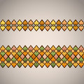 Seamless geometric border Stock Photos