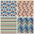 Seamless geometric cube background set patterns Stock Photo