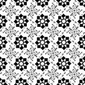 Seamless geometric and floral pattern background of Royalty Free Stock Images