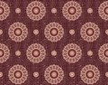 Seamless geometric floral pattern