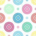 Seamless geometric floral pattern vector background design abstract art with oriental Arabic flower looking colorful shapes Royalty Free Stock Photo