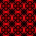 Seamless geometric floral pattern vector background design art with rose flower looking 3D like shapes red black Royalty Free Stock Photo