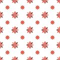 Seamless geometric floral pattern vector background design colorful abstract art with spring summer flowers pink red white Royalty Free Stock Photo