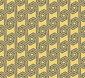 Seamless geometric hexagonal pattern -vector eps8