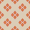 Seamless geometric ikat pattern