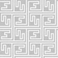Seamless geometric key pattern Royalty Free Stock Image