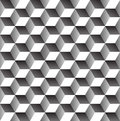 Seamless geometric pattern abstract in black and white Royalty Free Stock Image