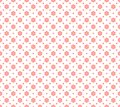 Seamless geometric pattern with abstract pink flower ornament. Vector Illustration Royalty Free Stock Photo