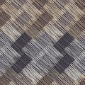 Seamless geometric pattern. Brown floor with wooden texture. Asian Mat. Scribble texture.