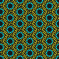 Seamless geometric pattern colorful dots Stock Image