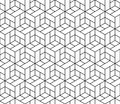 Seamless geometric pattern with cubes this is file of eps format Royalty Free Stock Photography