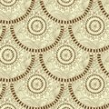 Seamless geometric pattern in fish scale design circle elements texture vector art Stock Photography