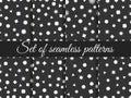 Seamless geometric pattern. Geometric chaos. Wrapping paper. Set seamless pattern with geometric figures.