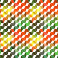 Seamless geometric pattern with geometric shapes rhombus color colorful zigzags looks like stairs or multi layer object that Royalty Free Stock Photo
