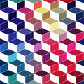 Seamless geometric pattern with geometric shapes rhombus color colorful zigzags looks like stairs or multi layer object that Stock Photography