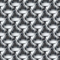 Seamless geometric pattern with grey ribbons texture. Royalty Free Stock Photo
