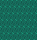 Seamless geometric pattern with hexagonal shapes - vector eps8 Royalty Free Stock Photo